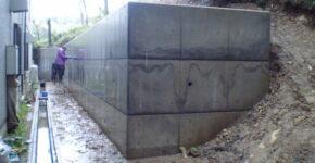 鳩山町S邸 重力式擁壁工事